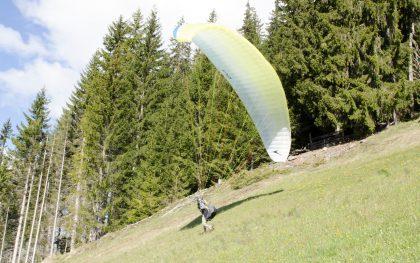 Paraglide-Startabbruch nach rechts