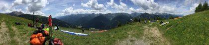 """Paraglidestartplatz """"Scheibe"""" bei Obertilliach"""