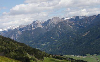 Aussicht beim Paragliding im Pustertal