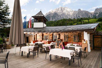 Terrasse mit Aussicht Hotel Löwe