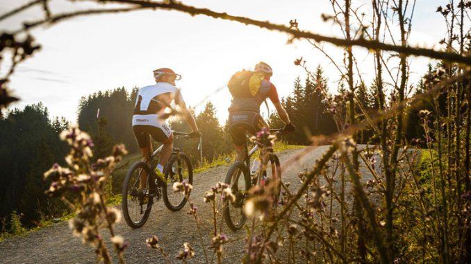 Mountainbiker am Unternberg