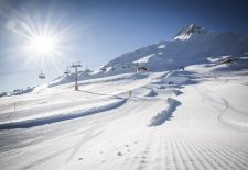 Skiopening der Zwei-Länder-Skiarena am Reschensee