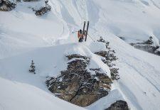 Freeride Action in den Schweizer Alpen beim Engadinsnow 2020