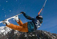 Amarok Snowkite Worldcup 2019 am Reschensee