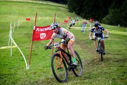 Janca Keveg Stevkova dominierte das Rennen bei den Damen © Bike Night Flachau/Jasmin Walter