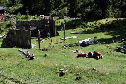 Talschluss Schnitza`s Holzpark Saalbach Hinterglemm © Roland Schopper