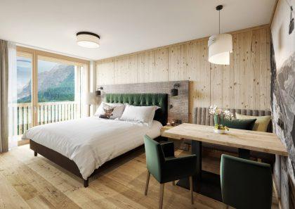 47 neue Zimmer und Suiten im alpenländisch-modernen Stil © 3D-Manufaktur / Vomp