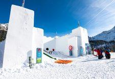 Beste Wintersportbedingungen und neue Schneeburg auf der Ehrwalder Alm
