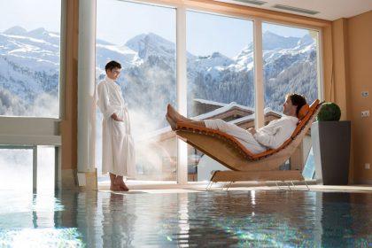 Wellnessbereich mit Panoramablick © Hotel Klausnerhof