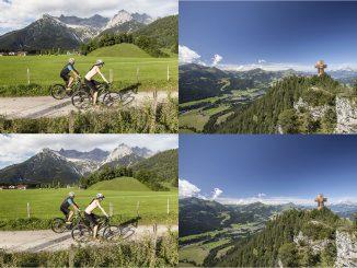Weiter geht's zum nächsten Gang quer durchs PillerseeTal © Defrancesco und Das Jakobskreuz immer im Blick © Bergbahn Pillersee