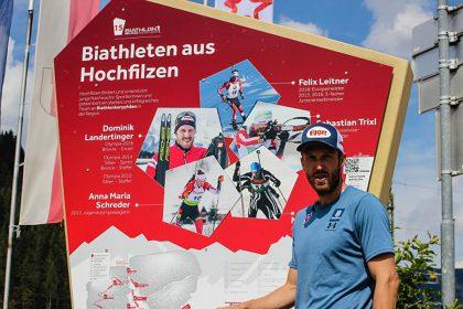 """""""Schlag den Landi"""" beim Biathlon WM Pfad in Hochfilzen Pillerseetal"""