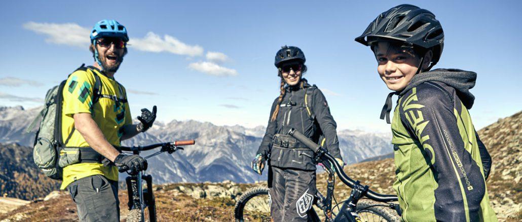 Biken mit der ganzen Familie – wie hier auf dem Flüstertrail © Serfaus-Fiss-Ladis Marketing GmbH, christianwaldegger.com