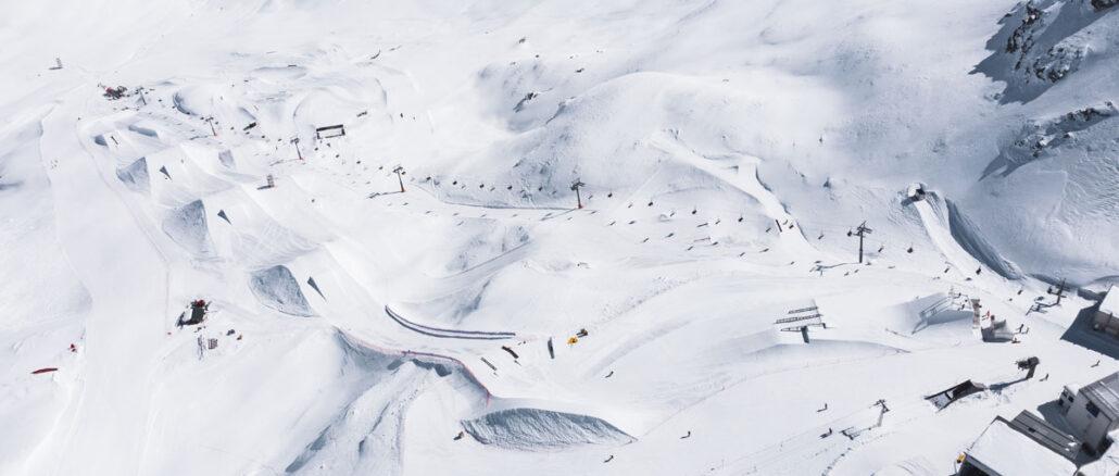 2021 Corvatsch WC Parkübersicht Drohne © Fabian Gattlen