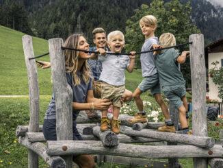 Familienzeit am Berggasthof Gsteier © Lineematiche